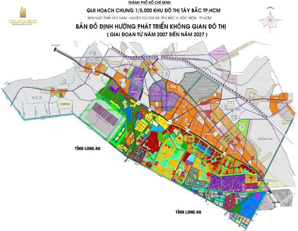 Bản đồ quy hoạch Thành phố Tây bắc TP.HCM
