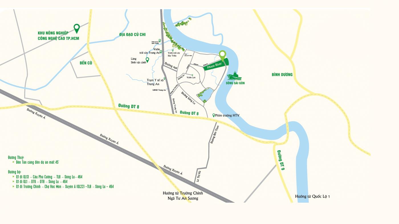 Vị trí dự án Biệt thự Moon River