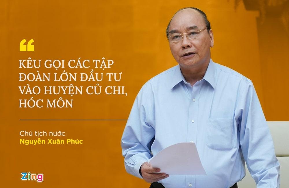 Chủ tịch nước Nguyễn Xuân Phúc kêu gọi đầu tư vào Hóc Môn Củ Chi