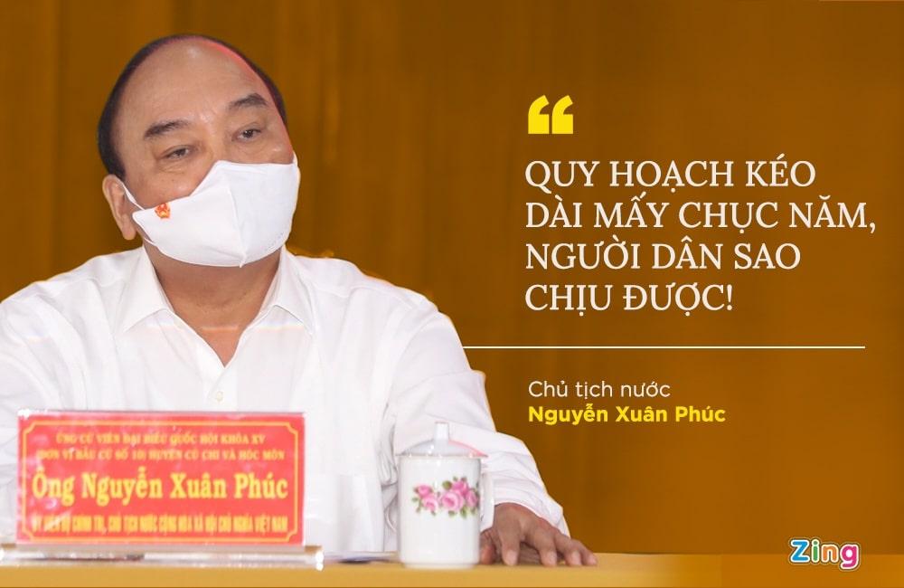 Chủ tịch nước Nguyễn Xuân Phúc nói về Quy hoạch Củ Chi Hóc Môn