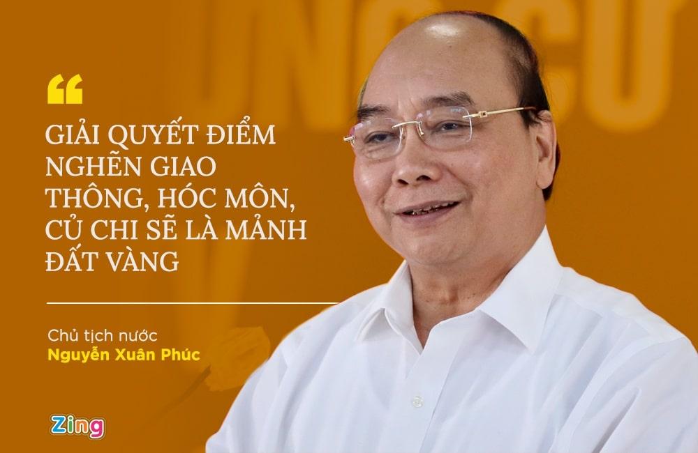 Chủ tịch nước Nguyễn Xuân Phúc chia sẽ tầm nhìn về Hóc Môn Củ Chi