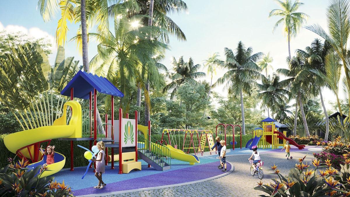 Sân chơi trẻ em tại Moon River Củ Chi