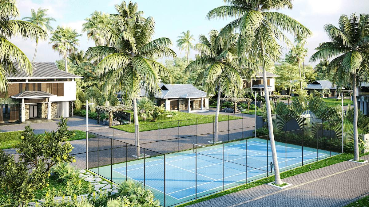 Sân Tennis tại Moon River Củ Chi